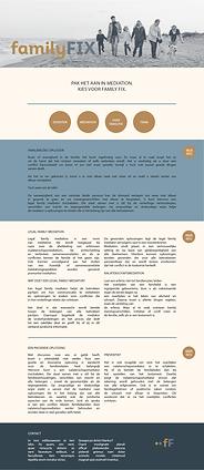 Familyfix | Website ontwerp