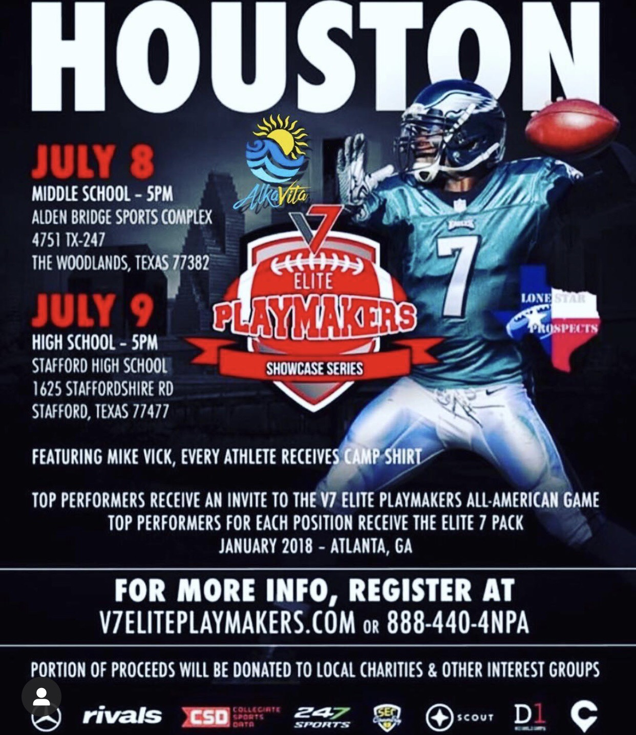 Michael Vick V7 Football Camp