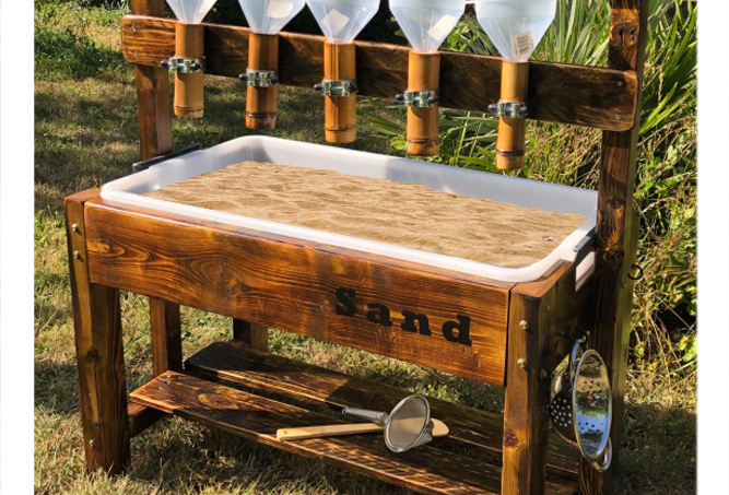 Bamboo Pipe Sand Pouring Play Table