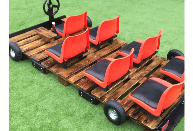 Wooden Pallet Bus 7 seater, treated & finished for exterior use