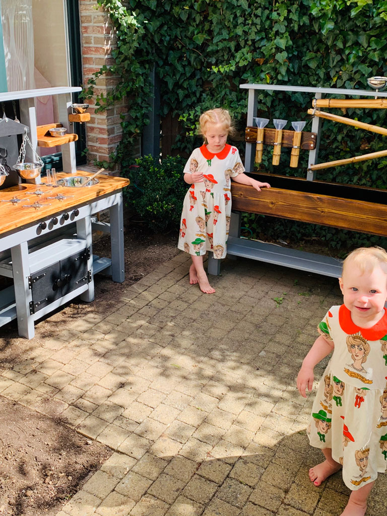 Outdoor water table and mud kitchen