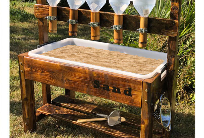 Children's sand tray table for early years playground London
