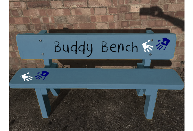 Buddy Bench or Coloured Benches