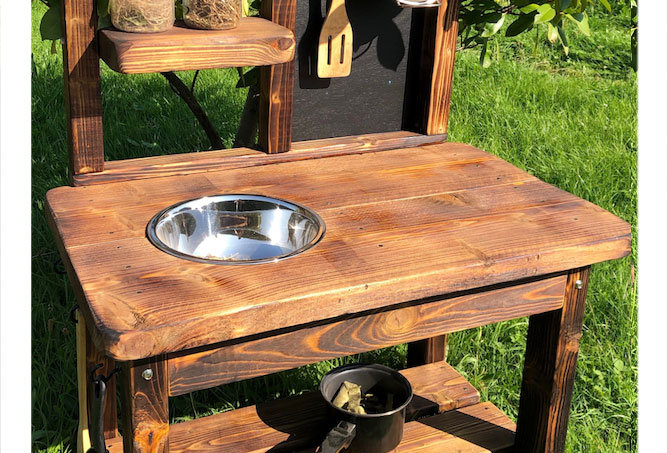 Outdoor role play kitchen 1 bowl
