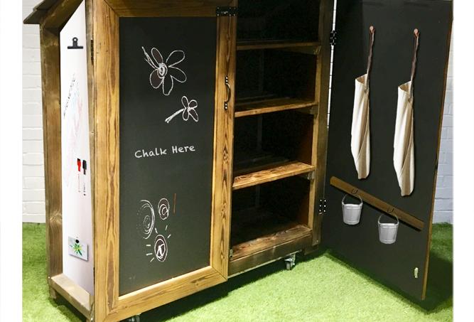 Outdoor Art Storage Lockable Cupboard