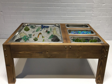 Indoor Messy Sand Sensory Play Tables