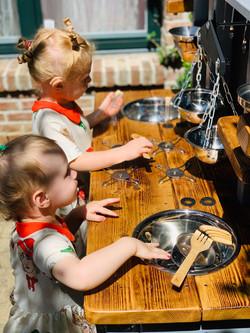 Children's outdoor kitchen