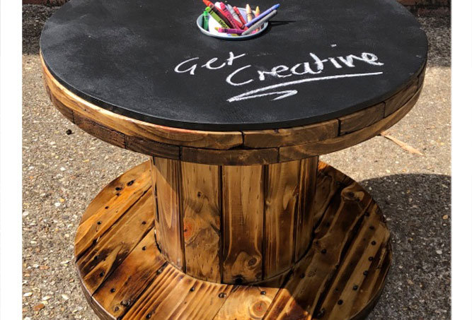 Outdoor Art Cable Drum Play Table age 2-5