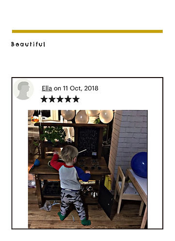 Small wooden mud kitchen 5 star review.j
