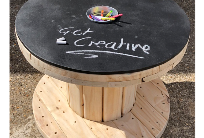 Indoor Art Cable Drum Play Table