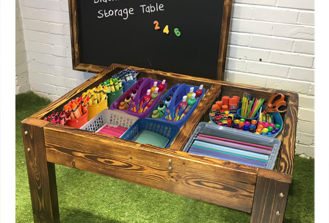 Magnetic Art Blackboard Storage Table