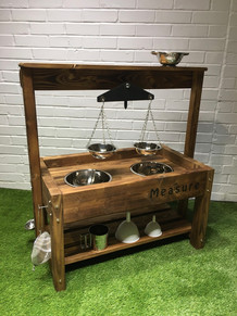 Outdoor Wooden Scales Play Table