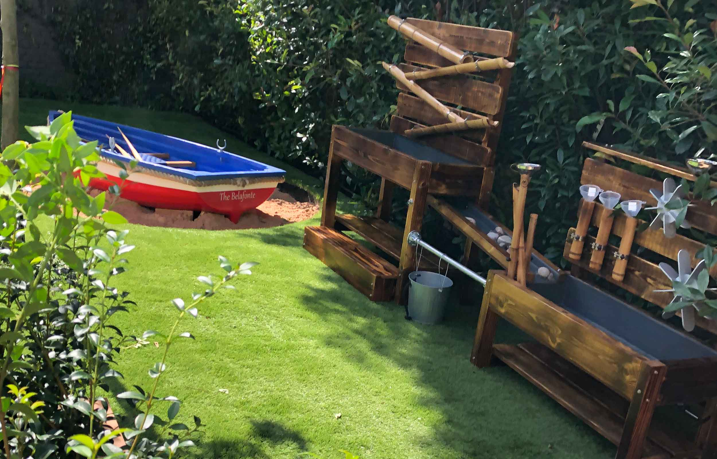 Outdoor Bespoke water play activity tables