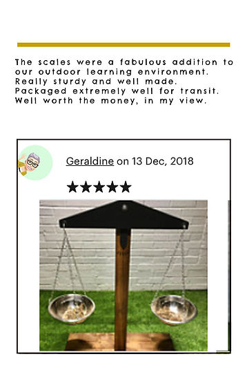 5 star rating review childrens outdoor play scales
