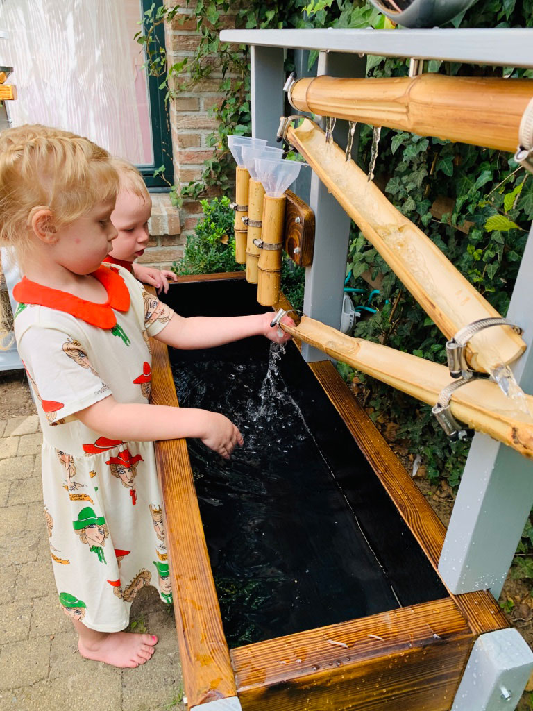 Wooden water play table