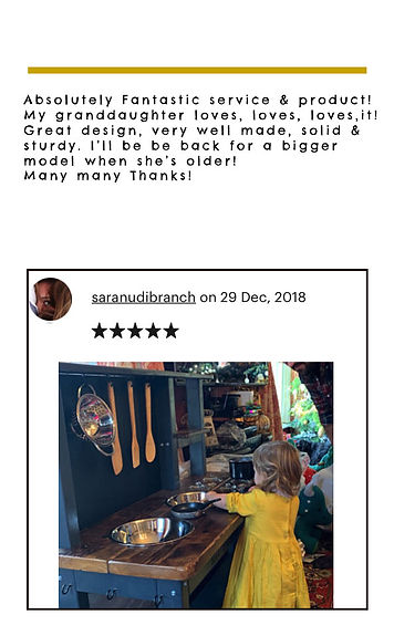 5 star review mud kitchen with chalkboar