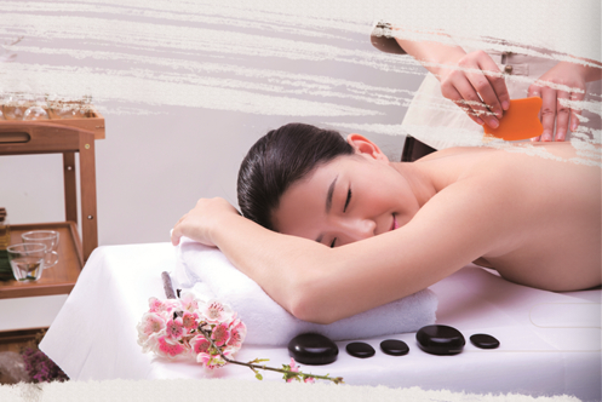 Hot Stone Essential Oil Relax Massage