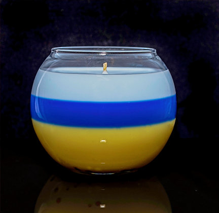 On the Beach - Large bubble glass candle