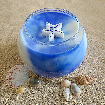 Deep Blue Sea - Large bubble glass candle