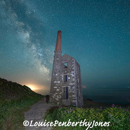 Milky Way at Wheal Prosper (with Saturn and Jupiter rising)