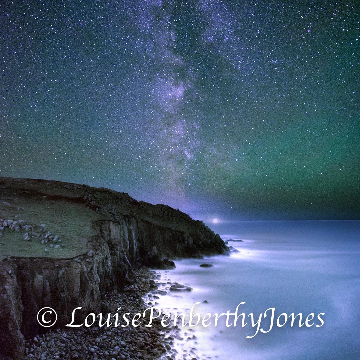 Milky Way over porthgwarra square