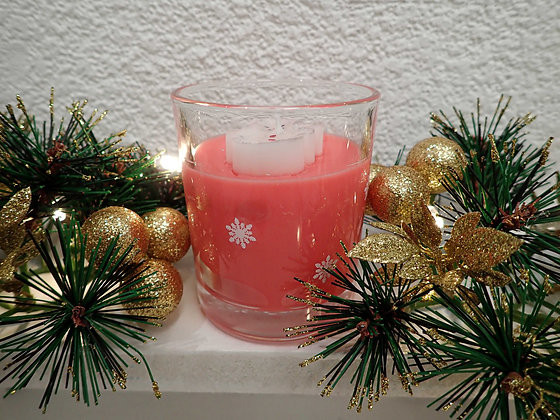 Very Berry Christmas Snowman Candle - Small