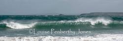 Waves off Porthgwidden