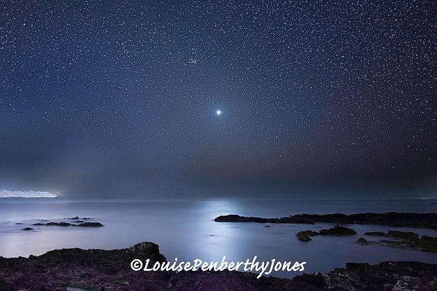 Venus over St Ives Bay