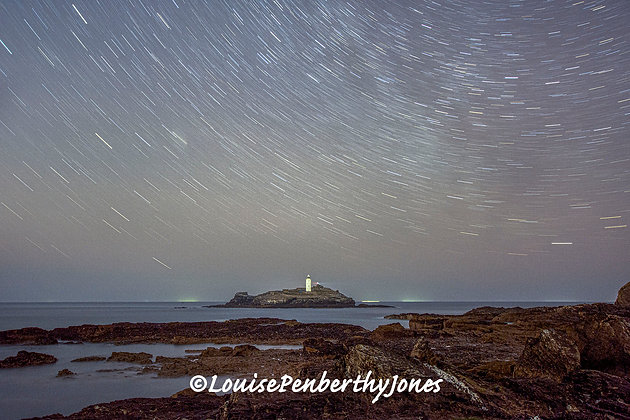 Star Trails over Godrevy Lighthouse