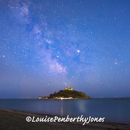 Milky Way over St Michaels Mount