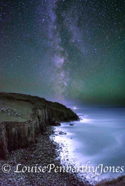 Milky Way over Porthgwarra full size