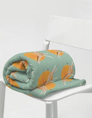Giraffe and Sun Throw Blanket