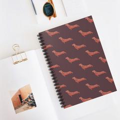 Dachshund Dog Spiral Notebook stationery