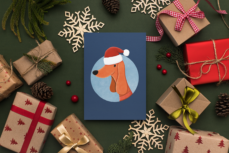 christmas greeting cards dogs stationery eggenland.png