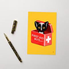 First Aid Kitten Postcard