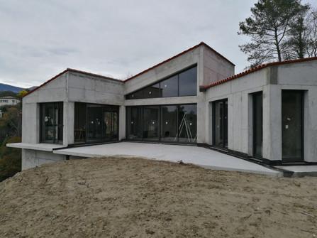Maison architecte, la colle sur loup, kline, aluminium alu videmo