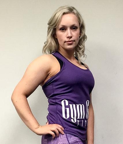 GGF Women's Curved Tank Top - Purple