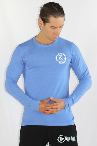 GGF Men's Long Sleeved Muscle Fit T-Shirt - Blue