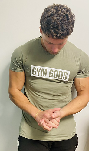 Gym Gods T-Shirt - Khaki