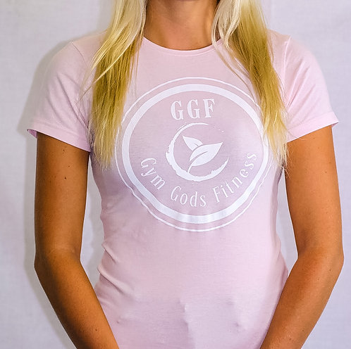 GGF Women's Fitted T-Shirt - Baby Pink/White Detail