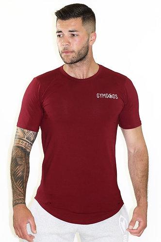 GGF Men's Curved Hem T-Shirt - Burgundy