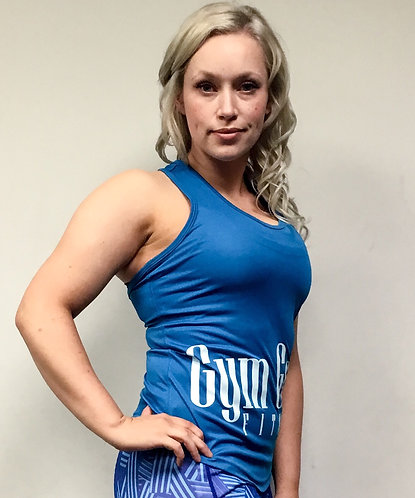 GGF Women's Curved Tank Top -Blue