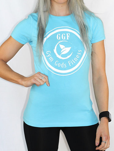 GGF Women's Fitted T-Shirt - Surf Blue