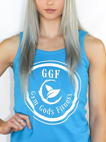 GGF Women's Fitted Tank Top - Blue