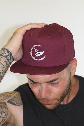 GGF Snapback Baseball Cap -Burgundy