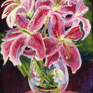 Lillies Two_Acrylic