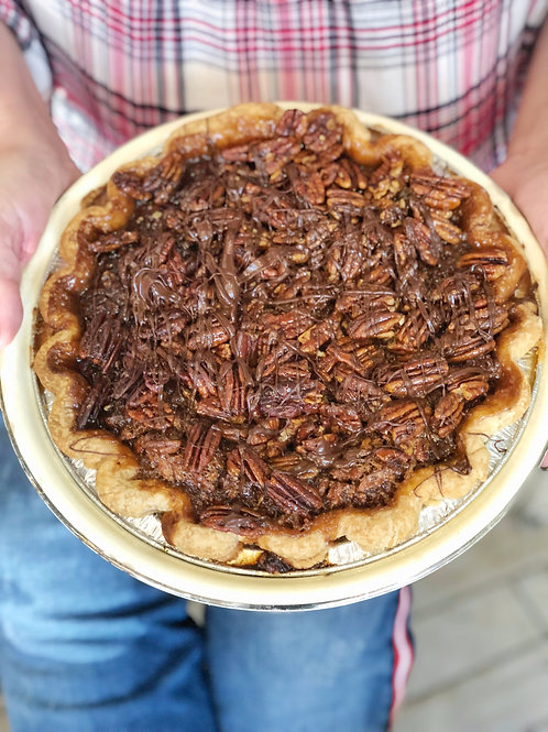 Chocolate Honey Pecan Pie