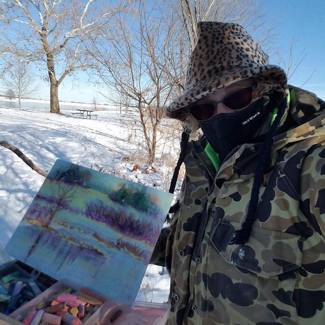 Holmes winter plein air pastel.jpg