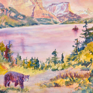 Bear Glacier N P_Watercolor