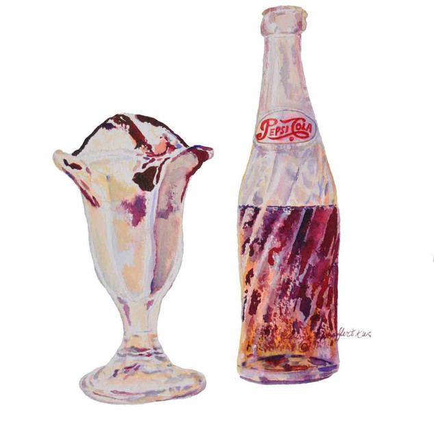 Pepsi and Sundae_Watercolor